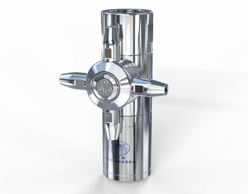 360度旋转喷头三维水射流技术的清洗优点