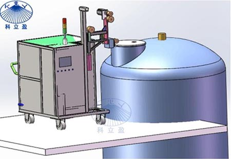 反应釜高压清洗系统是传统方法的几倍甚至十几倍