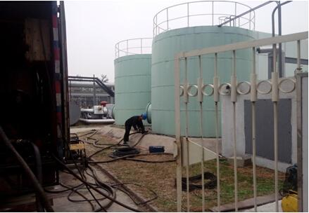 Safe operation of oil tank cleaning and process