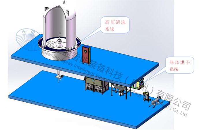 还原炉多晶硅及钟罩清洗系统